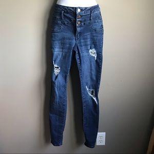 Refuge Destroyed Denim Jeans Size 0